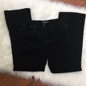 Ralph Lauren Jeans Black Corduroy Classic Boot Cut